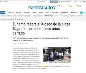 Turismo reabre el Kiosco de la plaza Sagasta tras estar cinco años cerrado