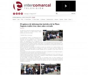 El quiosco de información turística de la Plaza Sagasta reabre tras cinco años cerrado