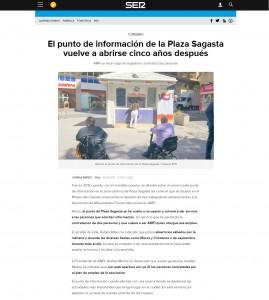 El punto de información de la Plaza Sagasta vuelve a abrirse cinco años después AMFI se hace cargo de la gestión y contrata a dos personas