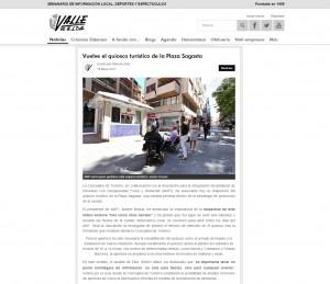 Vuelve el quiosco turístico de la Plaza Sagasta