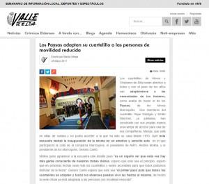 valledeelda.com 28 de mayo de 2017 Los Paysas adaptan su cuartelillo a las personas de movilidad reducida