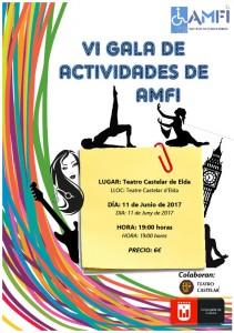 VI Gala de Actividades AMFI  El 11 de junio a las 19:00 h. en el Teatro Castelar Os esperamos!!!