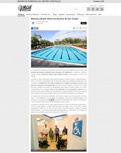 Mañana sábado abren las piscinas de San Crispín