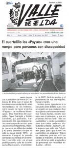 """El cuartelillo los """"Paysas"""" crea una rampa para personas con discapacidad"""