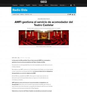 AMFI gestiona el servicio de acomodador del Teatro Castelar