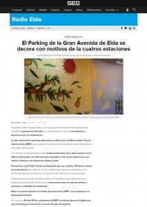 El Parking de la Gran Avenida de Elda se decora con motivos de la cuatros estaciones Las fiestas de Elda también formarán parte de esa renovada y original decoración