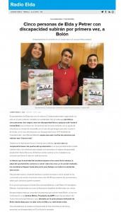 Cinco personas de Elda y Petrer con discapacidad subirán por primera vez, a Bolón