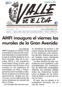 AMFI inaugura el viernes los murales de la Gran Avenida