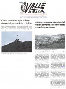 Cinco personas con discapacidad subirán al monte Bolón ayudados por varios montañeros