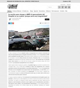 """La moción para otorgar a AMFI el aparcamiento del Hospital no va a pleno """"porque sería una irregularidad""""  Escrito por Marta Ortega"""
