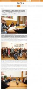 La UA y AMFI firman un convenio para la integración sociolaboral de personas con discapacidad física y sensorial