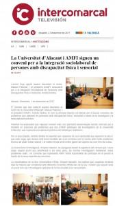La Universitat d'Alacant i AMFI signen un conveni per a la integració sociolaboral de persones amb discapacitat física i sensorial