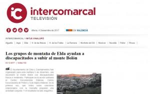 Los grupos de montaña de Elda ayudan a discapacitados a subir al monte Bolón