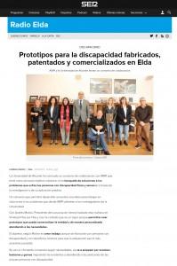Prototipos para la discapacidad fabricados, patentados y comercializados en Elda