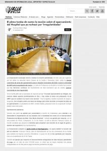 """El pleno tumba de nuevo la moción sobre el aparcamiento del Hospital que ya rechazó por """"irregularidades""""  Escrito por Marta Ortega"""