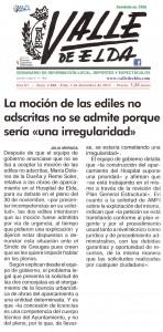 """La moción de las ediles no adscritas no se admite porque sería """"una irregularidad"""""""