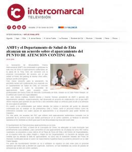 AMFI y el Departamento de Salud de Elda alcanzan un acuerdo sobre el aparcamiento del PUNTO DE ATENCIÓN CONTINUADA.