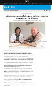 Aparcamiento gratuito para quienes acudan a urgencias de Manjón
