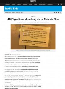 AMFI gestiona el parking de La Ficia de Elda