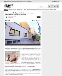 Los usuarios de Urgencias tendrán una hora de aparcamiento gratuito en la FICIA  Escrito por Marta Ortega