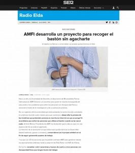 AMFI desarrolla un proyecto para recoger el bastón sin agacharte