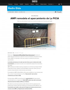 AMFI remodela el aparcamiento de La FICIA Abre una nueva entrada a la altura de la rotonda de la plaza de los Comuneros de Castilla
