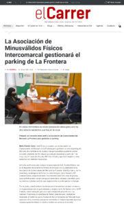 La Asociación de Minusválidos Físicos Intercomarcal gestionará el parking de La Frontera