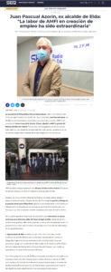 """Juan Pascual Azorín, ex alcalde de Elda: """"La labor de AMFI en creación de empleo ha sido extraordinaria"""""""