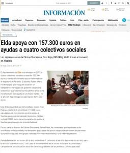 Elda apoya con 157.300 euros en ayudas a cuatro colectivos sociales